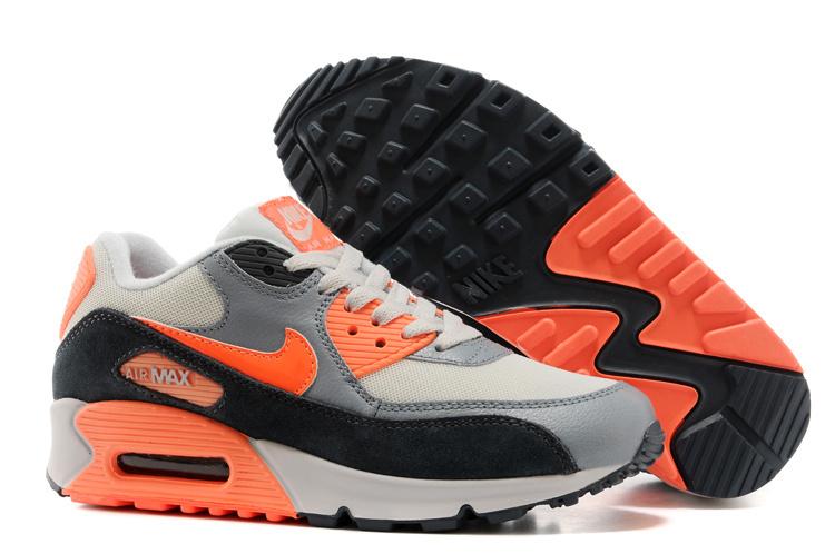 on sale 61d16 6c864 basket nike air max femme air max 90 blanche et gris et orange femme air max