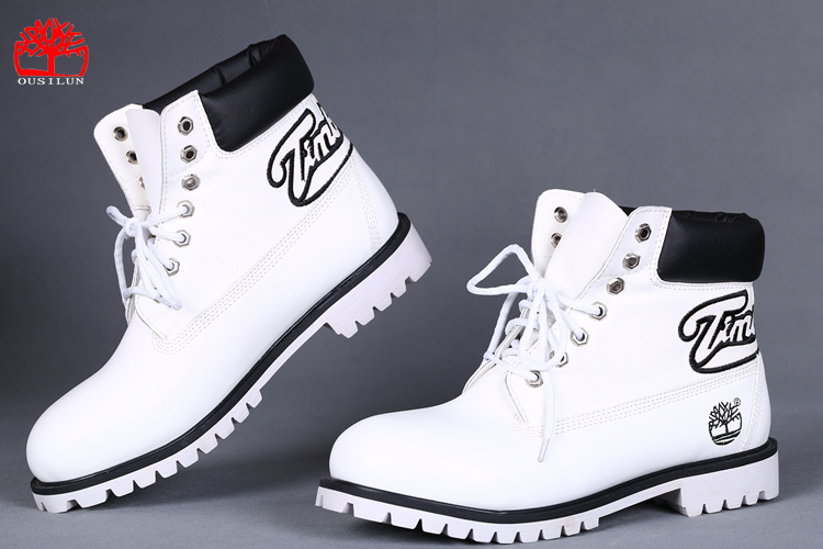timberland chaussure homme blanche