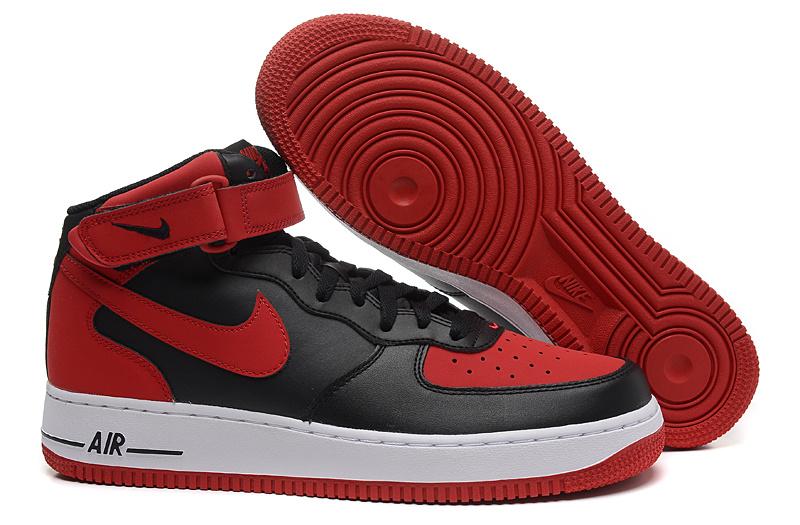separation shoes 5b758 95105 ... chaussure de ville nike homme air force 1 noir et rouge homme