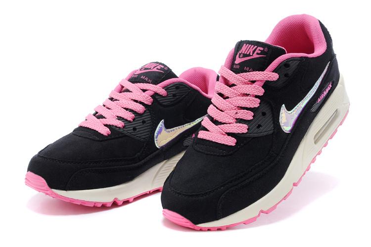 meilleur site web b3ab7 8bd0e air max 90 noir et rose, Nike Air Max 90 Mesh Enfant noir et ...
