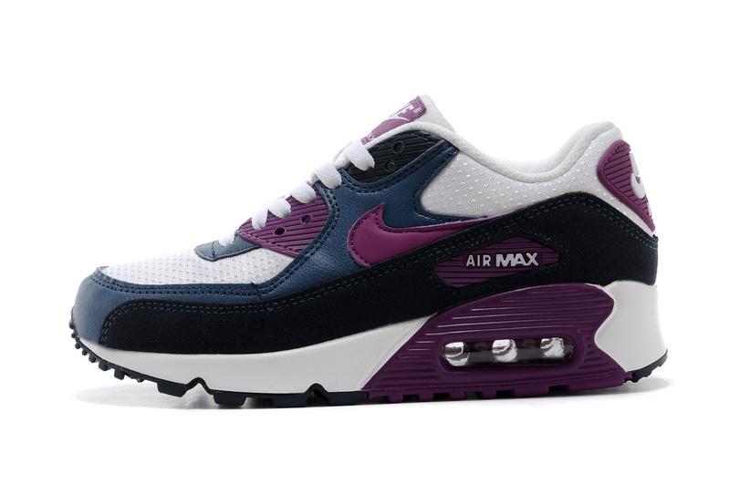 chaussure femme nike air max,air max 90 gris et violet femme