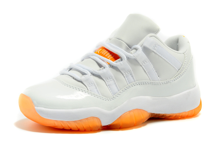 jordan retro 11 blanche et orange