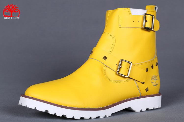 Cher Jaune Chaussure Jaune Homme Pas Timberland chaussure E2IDH9