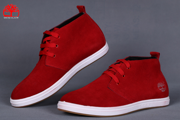 chaussure timberland homme rouge pas cher