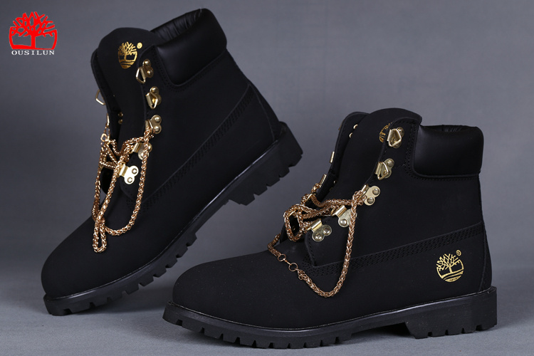 chaussure timberland homme noir et or